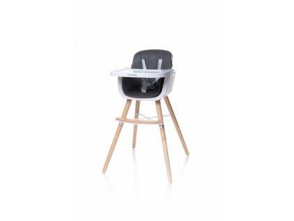 4Baby Jídelní židlička SCANDY šedá