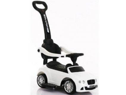 Baby Mix dětské odrážedlo Bentley s vodící tyčí bílé