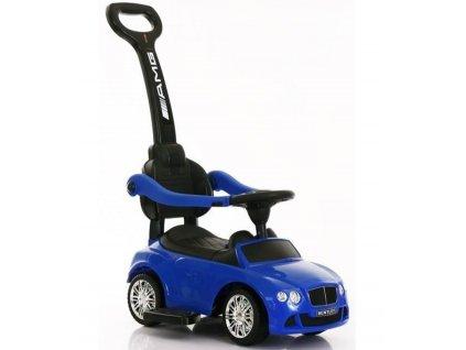 Baby Mix dětské odrážedlo Bentley s vodící tyčí modré