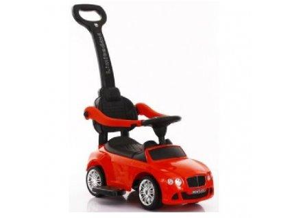 Baby Mix dětské odrážedlo Bentley s vodící tyčí červené