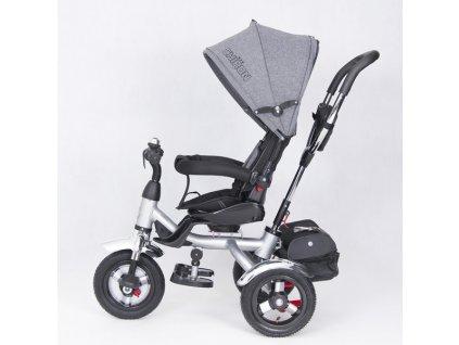 TBK tříkolka Chiron luxusní tříkolka 2020 tmavě šedá (13)