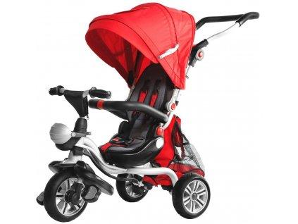 Dětská tříkolka Dizzy pěnová kola červená (1)