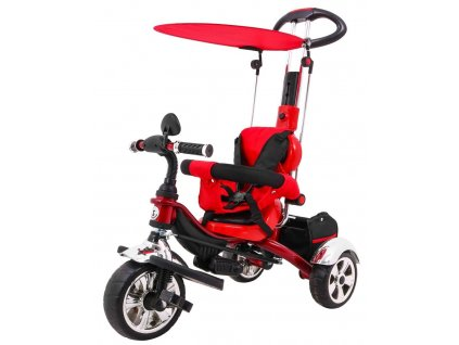Dětská tříkolka Versa pěnové kola červená (3)