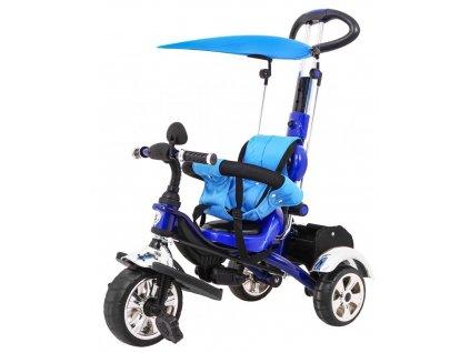 Dětská šlapací tříkolka Versa pěnové kola modrá (1)