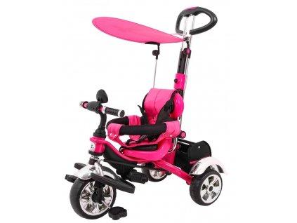 Dětská šlapací tříkolka Versa pěnové kola růžová (1)