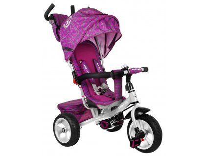 Dětská tříkolka Storm gumové kola fialová (2)