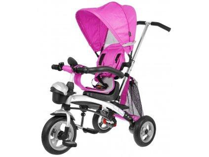 Dětská tříkolka Fusion 3v1 gumové kola růžová (1)