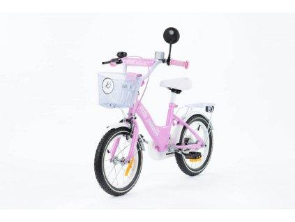 Dětské kolo 14 s vodící tyčí Little princess růžové (6)