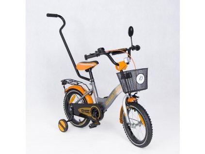 Dětské kolo 12 s vodící tyčí Dakota special edition oranžové (5)