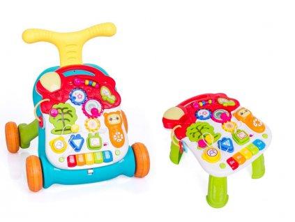 Doris chodítko s hracím stolečkem barevné