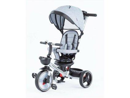 Baby Mix tříkolka Taxi rozložitelná 2020 šedá (2)