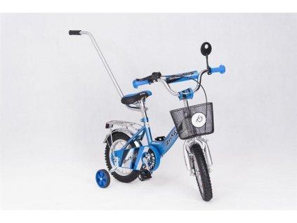 Dětské kolo 12 s vodící tyčí Speedy Scotty modré (7)