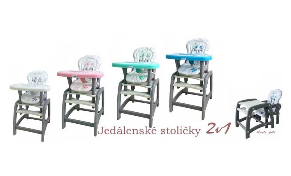 Jedálenské stoličky 2v1 Baby Mix