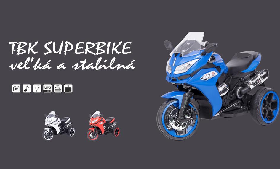 Detská elektrická motorka superbike