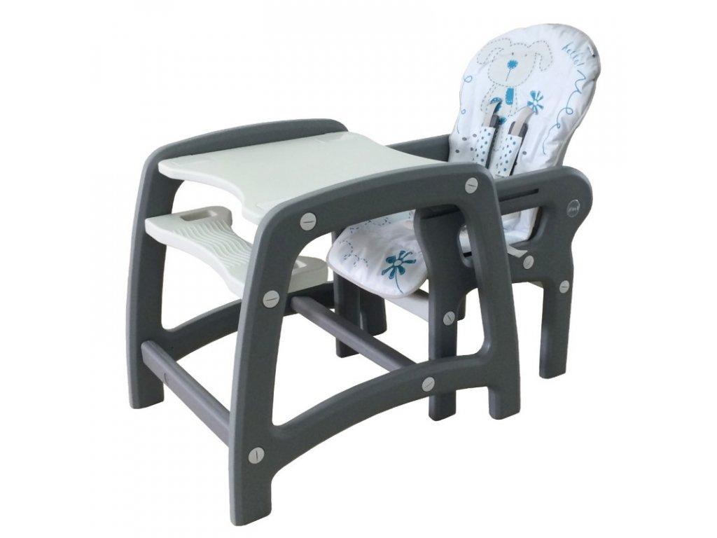 52392f1e7873 ... Jedálenská stolička Baby Mix 2v1 ružovác · rozlozena
