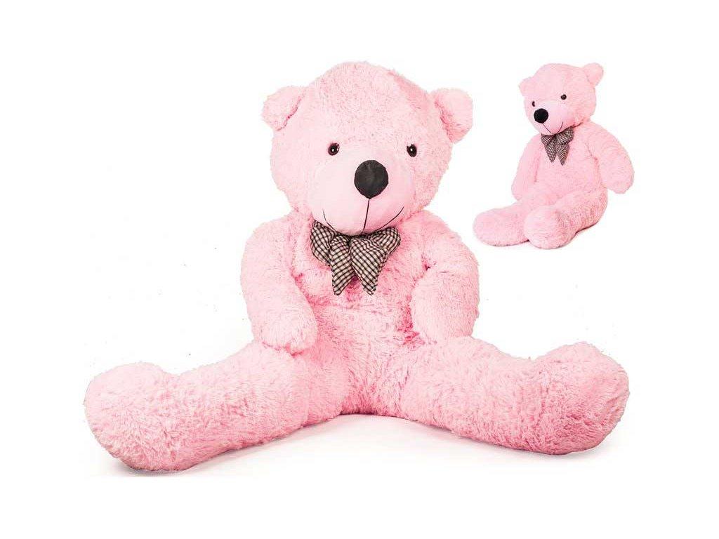 Veľký plyšový medveď 130 cm ružový