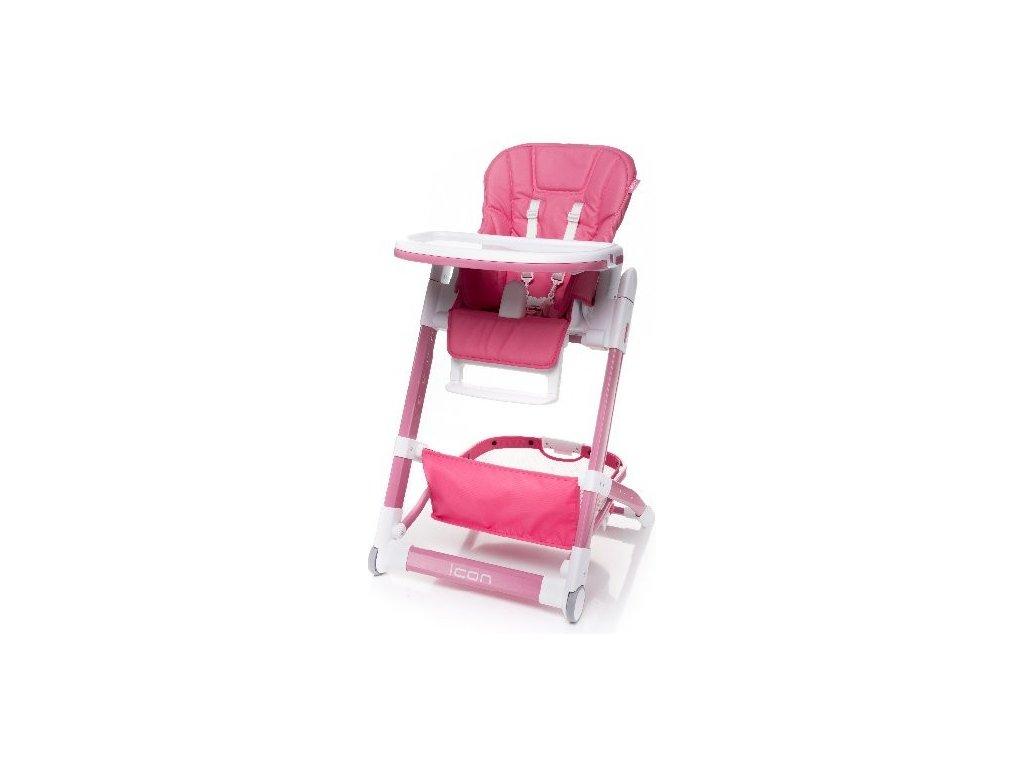 Jedálenská stolička 4Baby Icon 2018 ružová