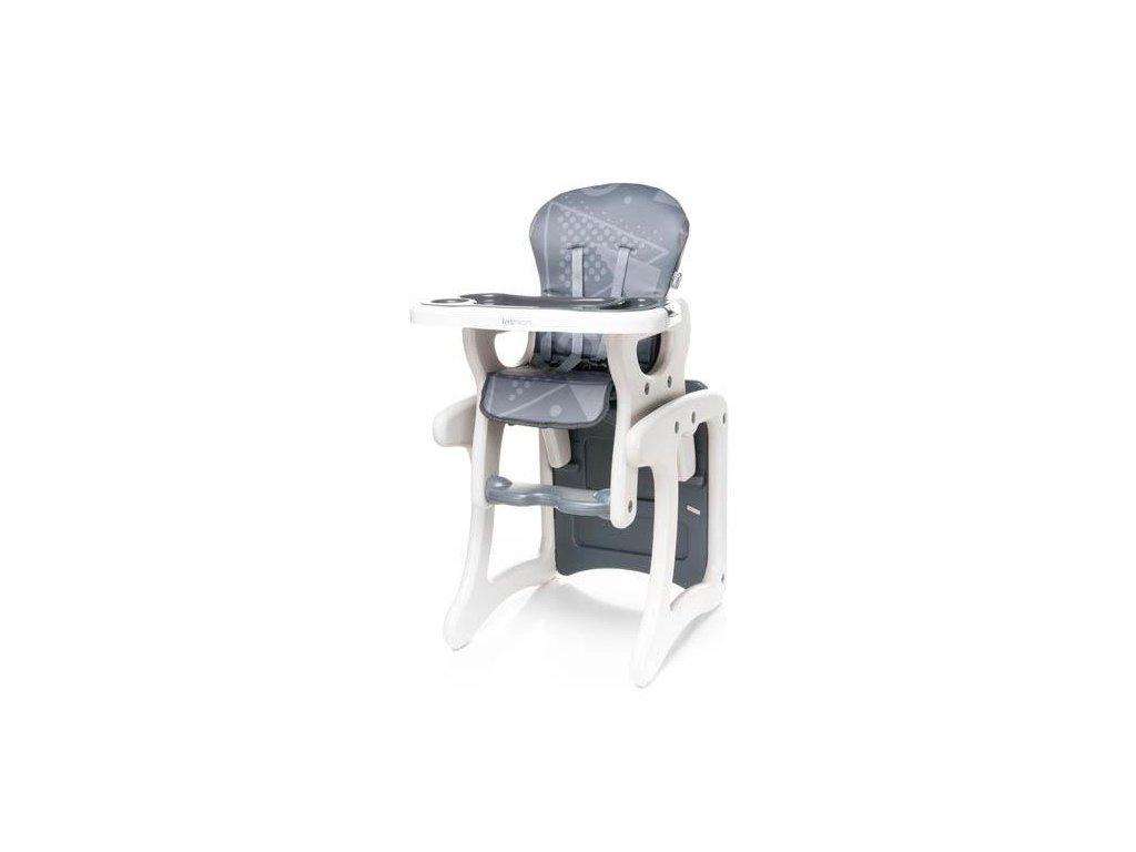 6ef7a8e7390d Jedálenská stolička 4Baby Fashion 2v1 sivá - Tobiland.sk
