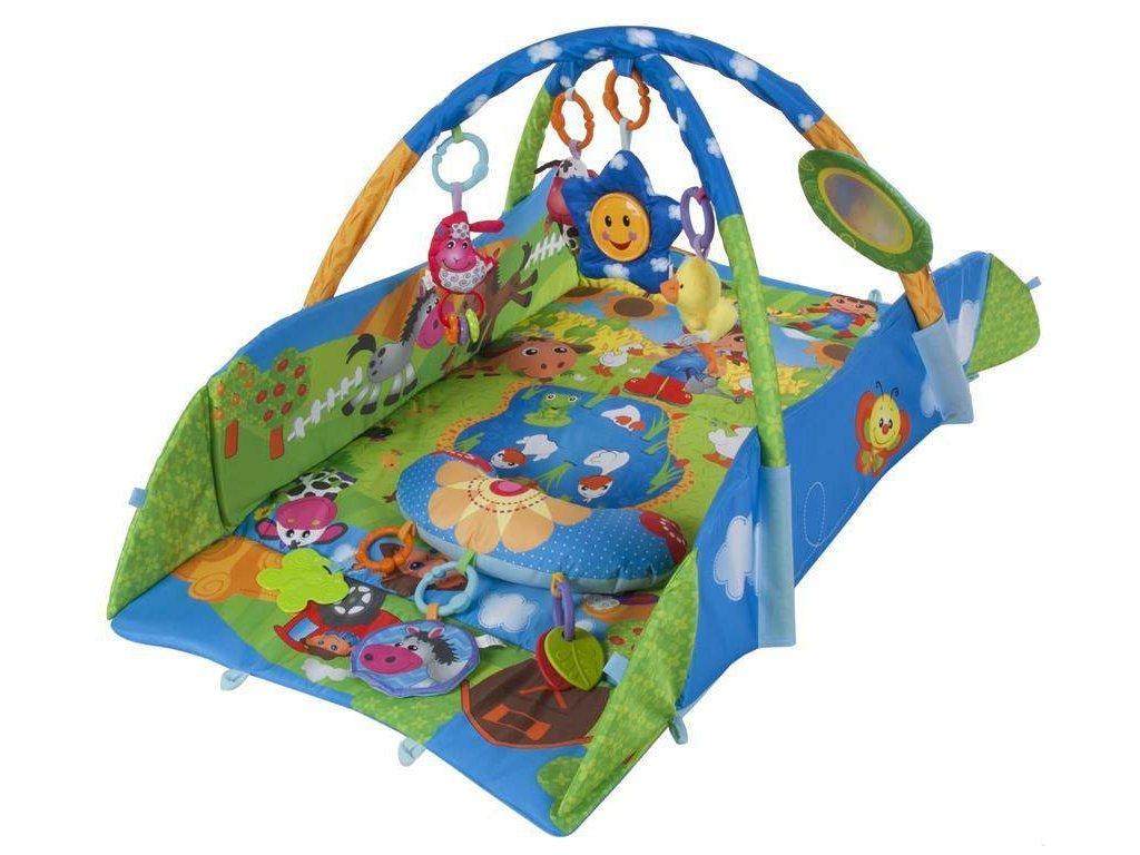 Sun Baby hracia deka s prívesky, zrkadlom farebná príroda (2)