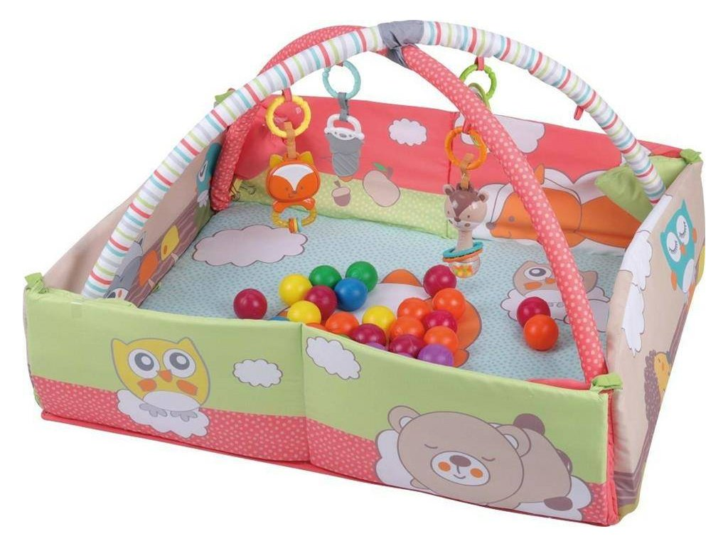 Sun Baby hracia deka 3v1 s loptičkami líška (2)