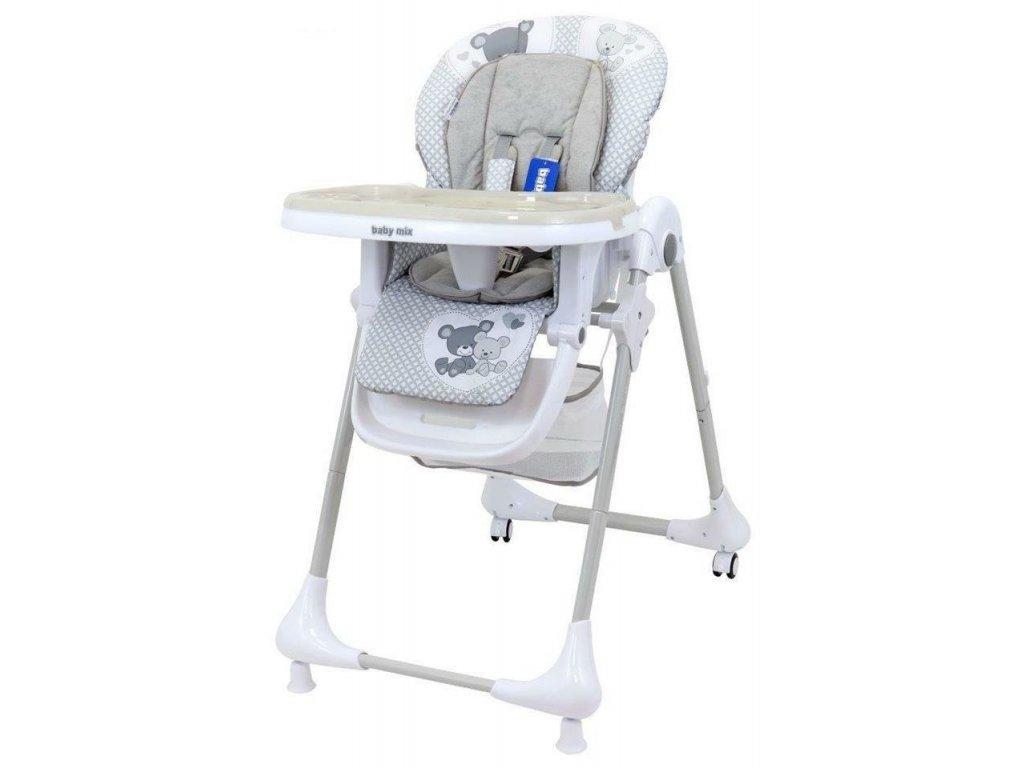 Alexis jedálenská stolička INFANT sivá