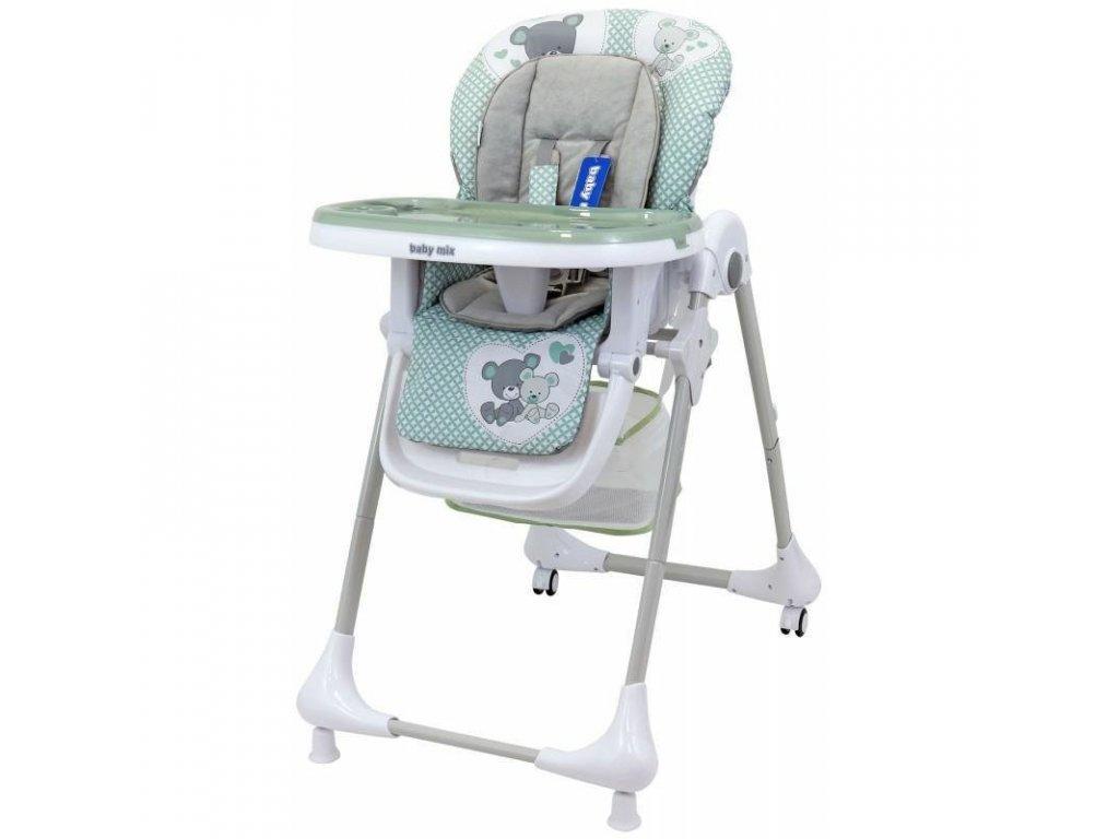 Alexis jedálenská stolička INFANT zelená