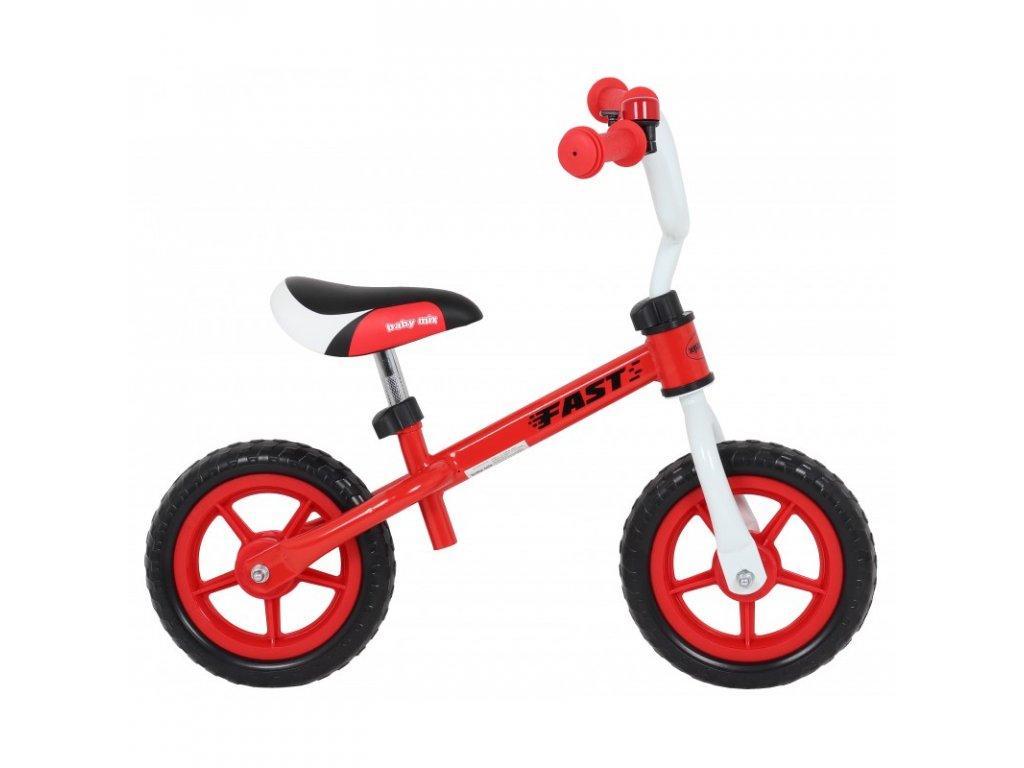 Odrážadlo - bicykel FAST 10 palcov červené