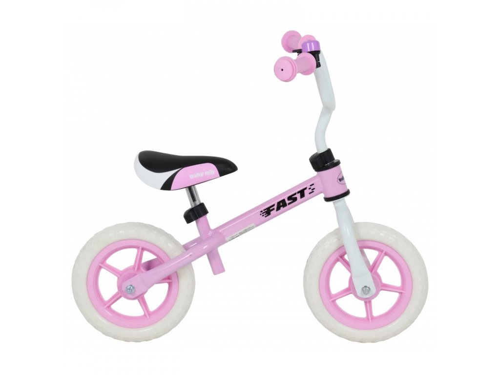 Odrážadlo bicykel FAST 10 palcov fialové