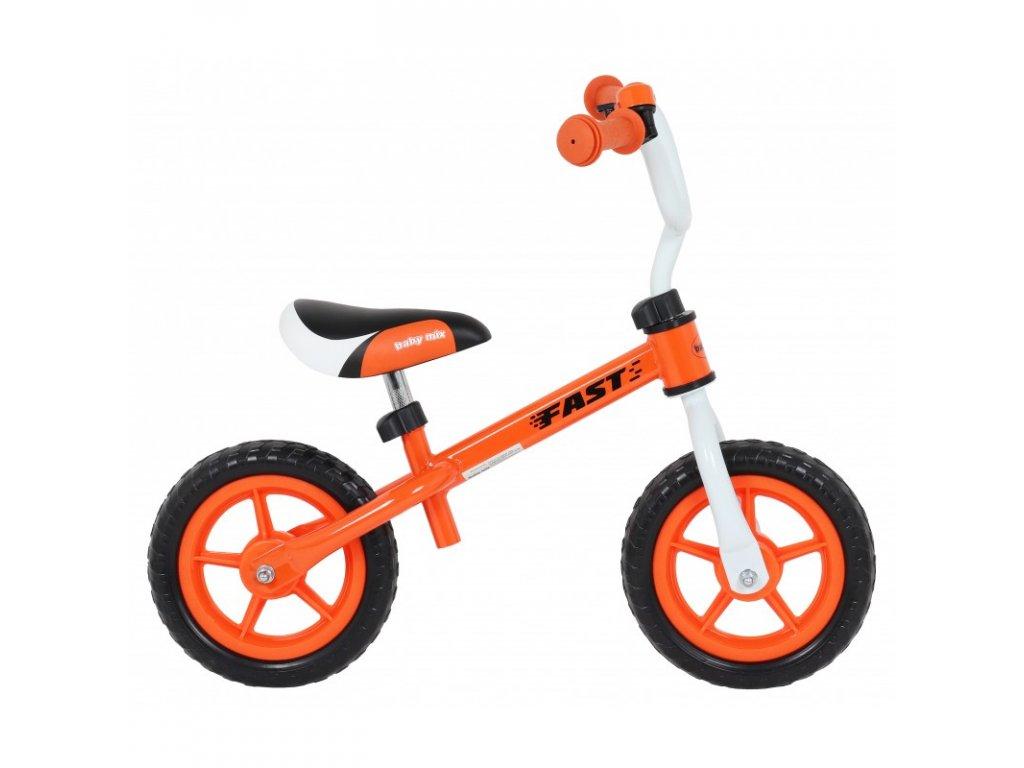 Odrážadlo bicykel FAST 10 palcov oranžové
