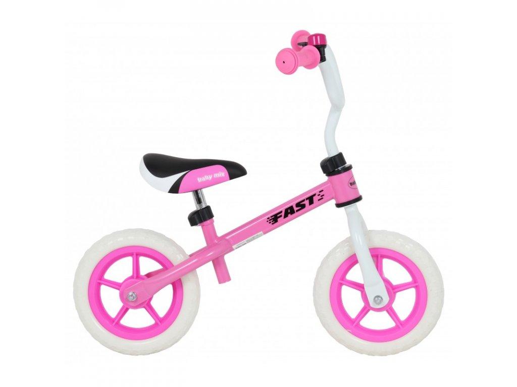 Odrážadlo bicykel FAST 10 palcov ružové