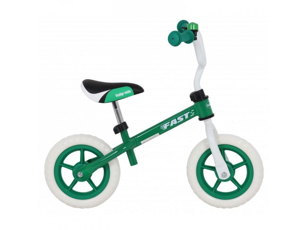 Odrážadlo bicykel FAST 10 palcov zelené
