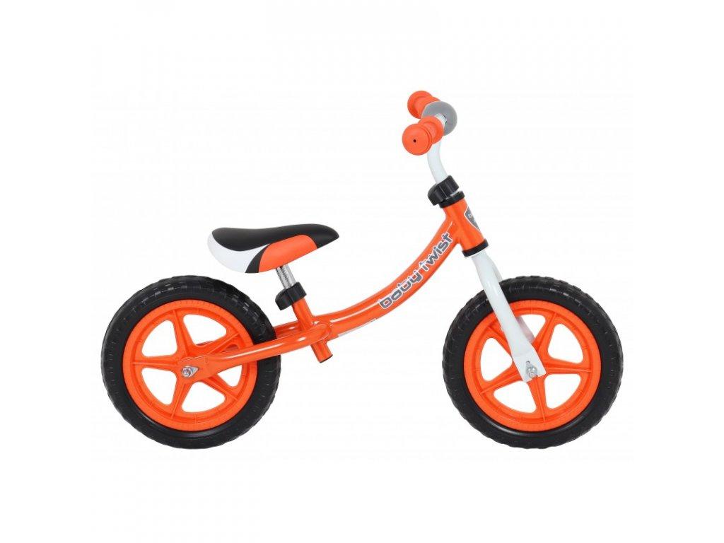 Odrážadlo bicykel Twist 12 palcov oranžové