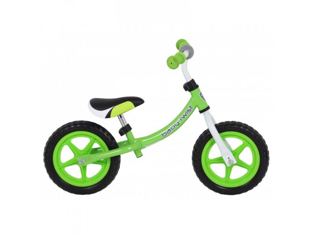 Odrážadlo bicykel Twist 12 palcov zelené