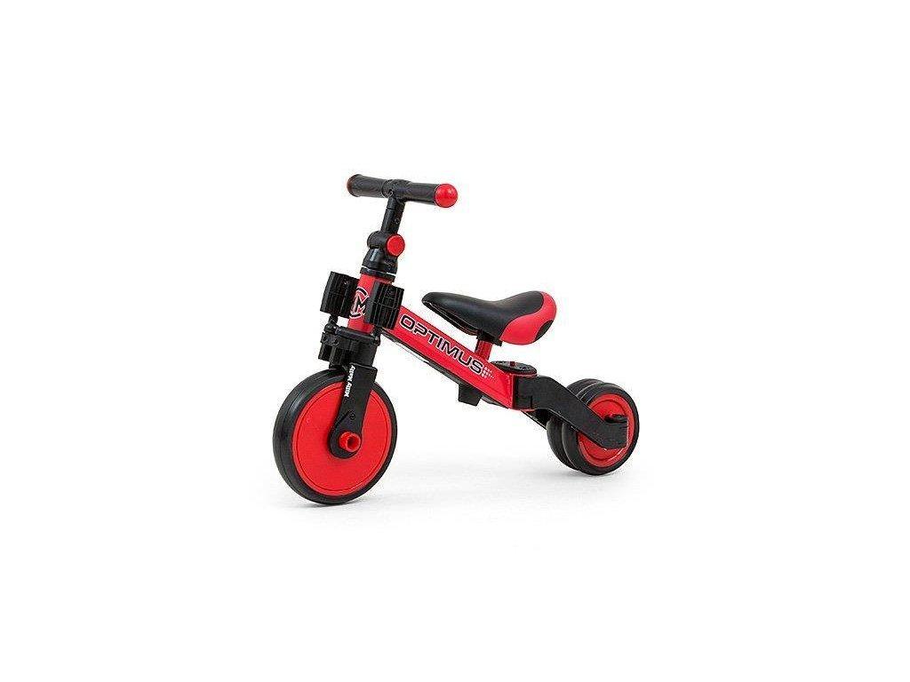 Detská trojkolka 3v1 Milly Mally Optimus red (2)