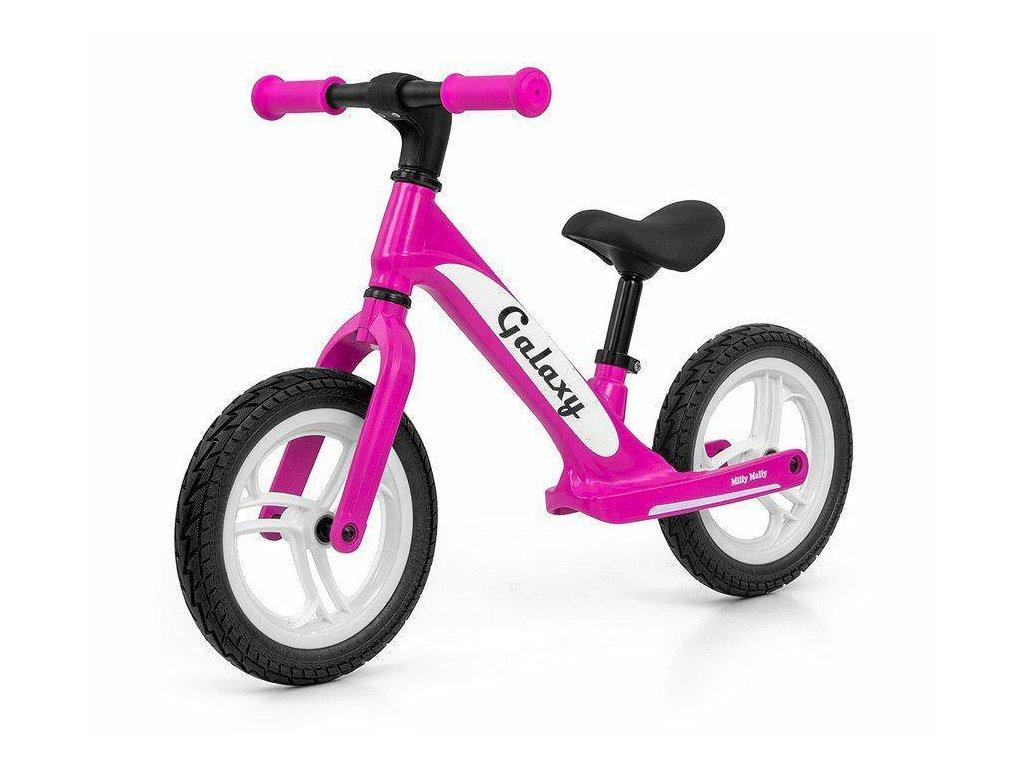 Milly Mally odrážacie bicykel 12 Galaxy pink (1)