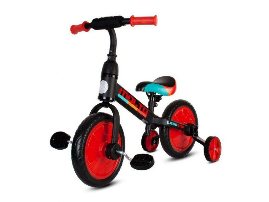 Odrážacie bicykel MOLTO Leggero 3v1 červené (1)