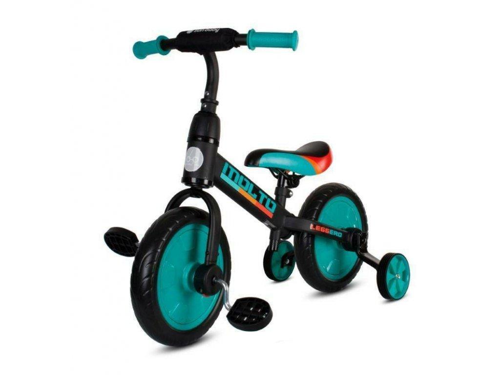 Odrážacie bicykel MOLTO Leggero 3v1 zelené (1)