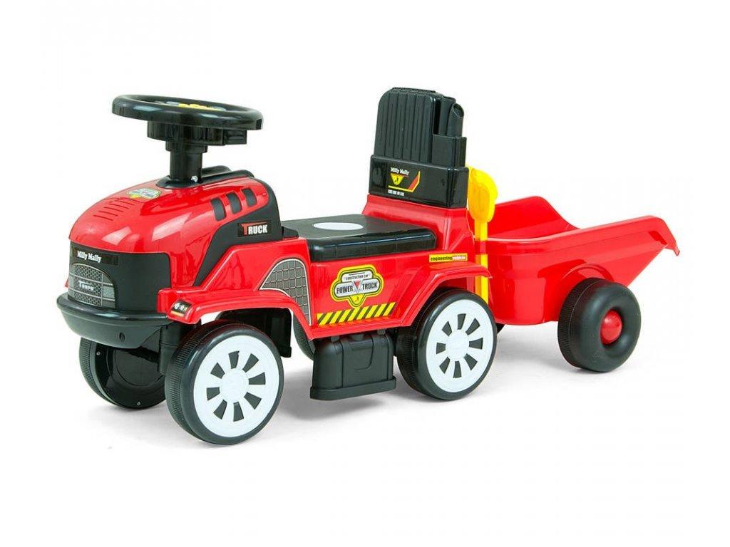 Milly Mally nákladné autíčko Rolly s prívesom červené