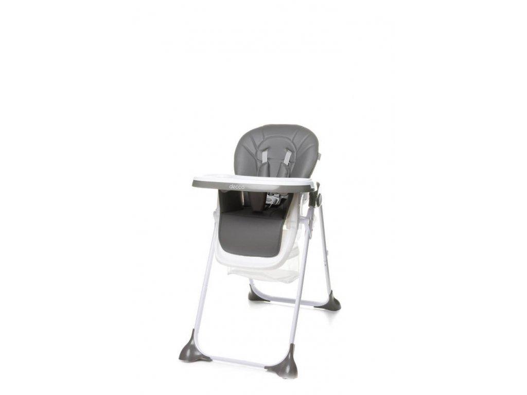 Jedálenská stolička 4Baby Decco sivá (1)
