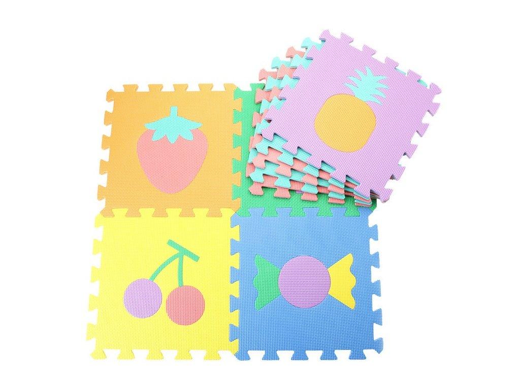 Penové puzzle ovocie 10 dielikov