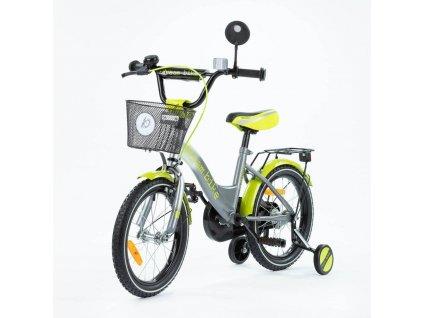 Detský bicykel 16 TBK Platinum silvergreen (5)
