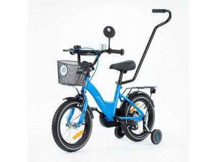 Detský bicykel 14 s vodiacou tyčou TBK Platinum modrá (11)