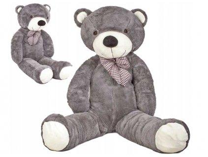 plyšový medveď 130 cm šedý