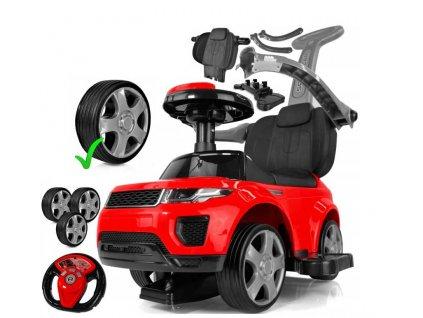 TBK odrážadlo Range Rover Exclusive gumové kolesá červené 2019