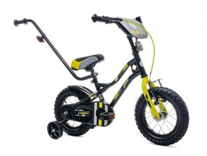Detský bicykel 16 s vodiacou tyčou Tiger bike žltý (1)