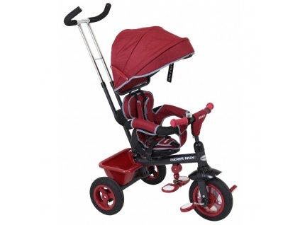 Trojkolka Baby Mix Rider 360° červená gumená kolesá