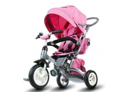 Sun Baby trojkolka Tiger gumové kolesá ružová (2)