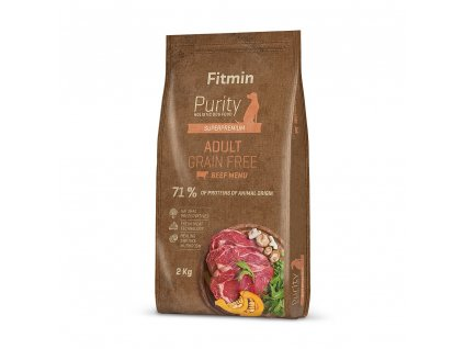 fitmin dog purity gf adult beef 2 kg h L