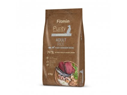 Fitmin Purity Adult Fish & Venison Rice