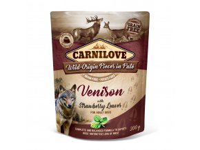 carniove vension strawberry leaves